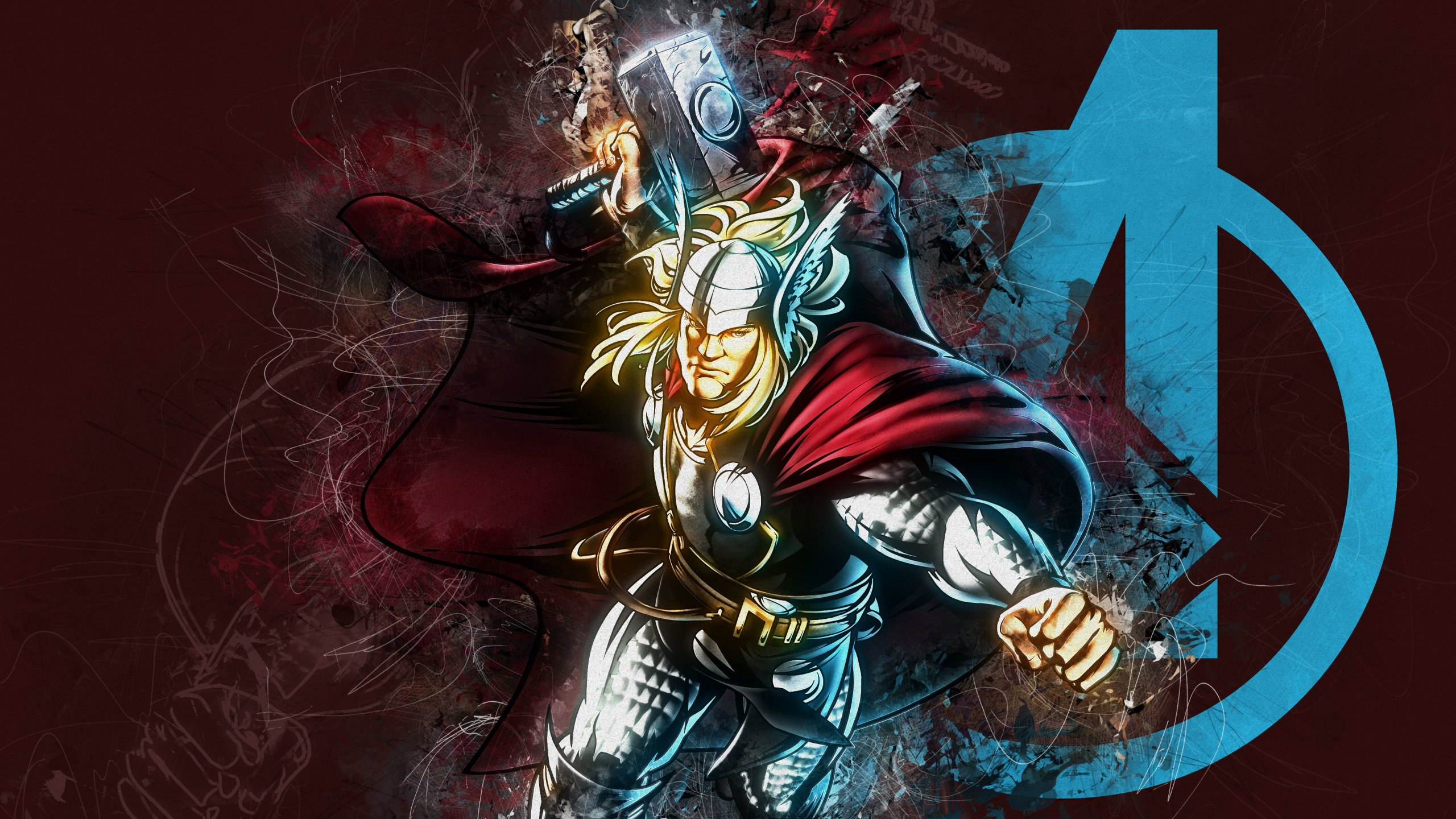 Download 2560x1440 Wallpaper Thor God Of Thunder Marvel Comics Dual Wide Widescreen 16 9 Widescreen 2560x1440 Hd Image Background 7551