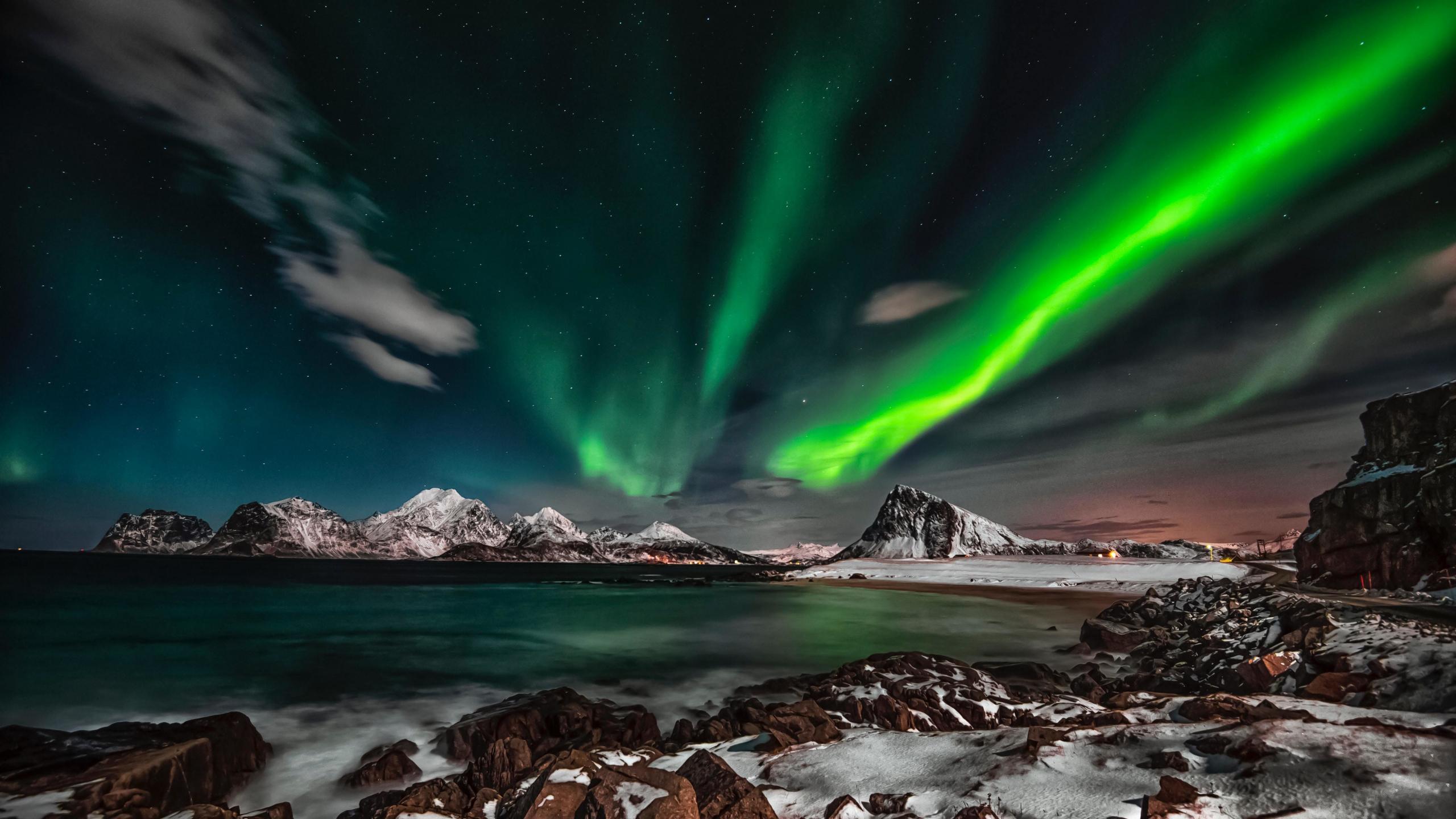 Download 2560x1440 wallpaper arctic, mountains, nature ...