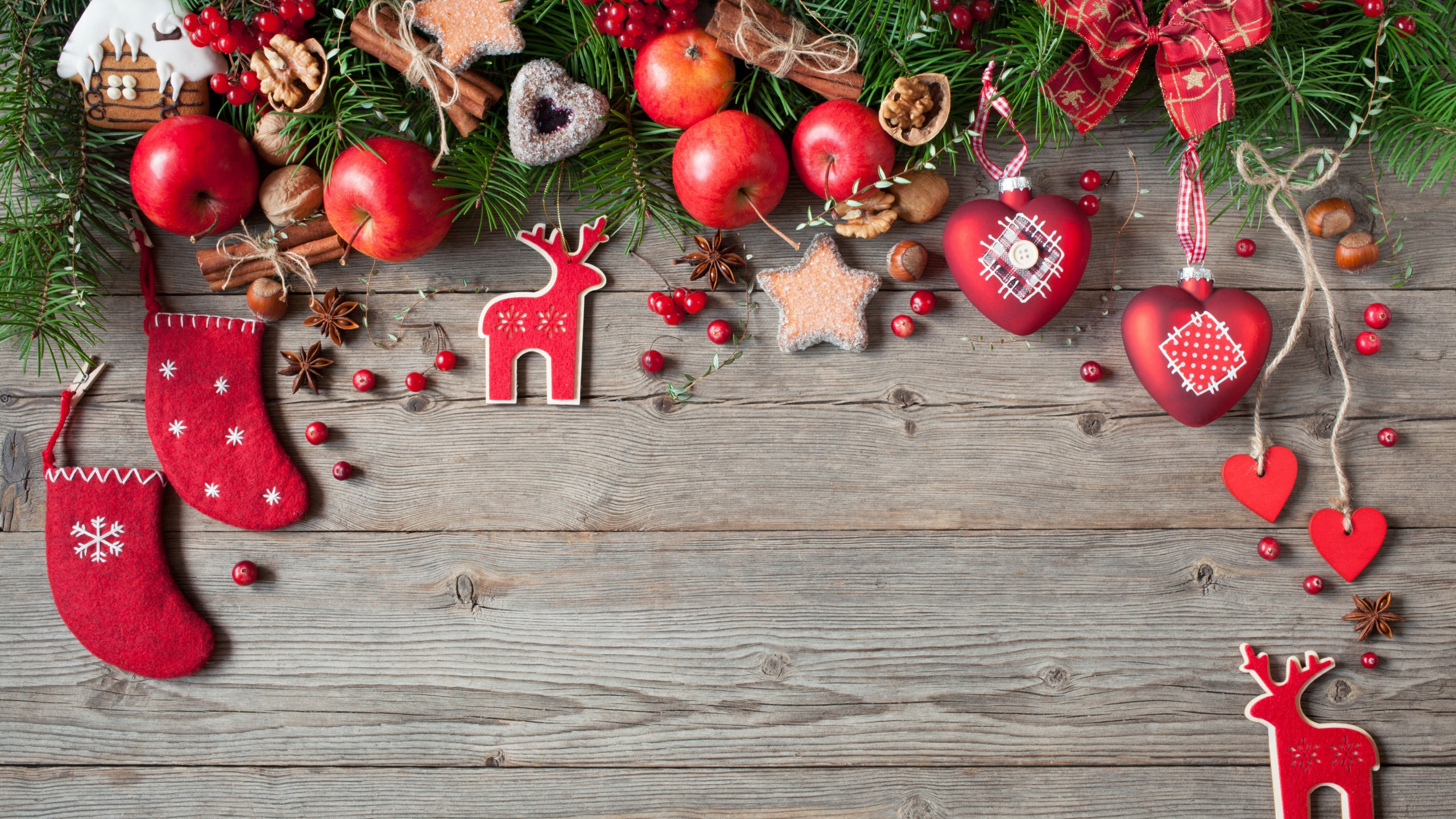 Download 2560x1440 Wallpaper Decorations Holiday Christmas