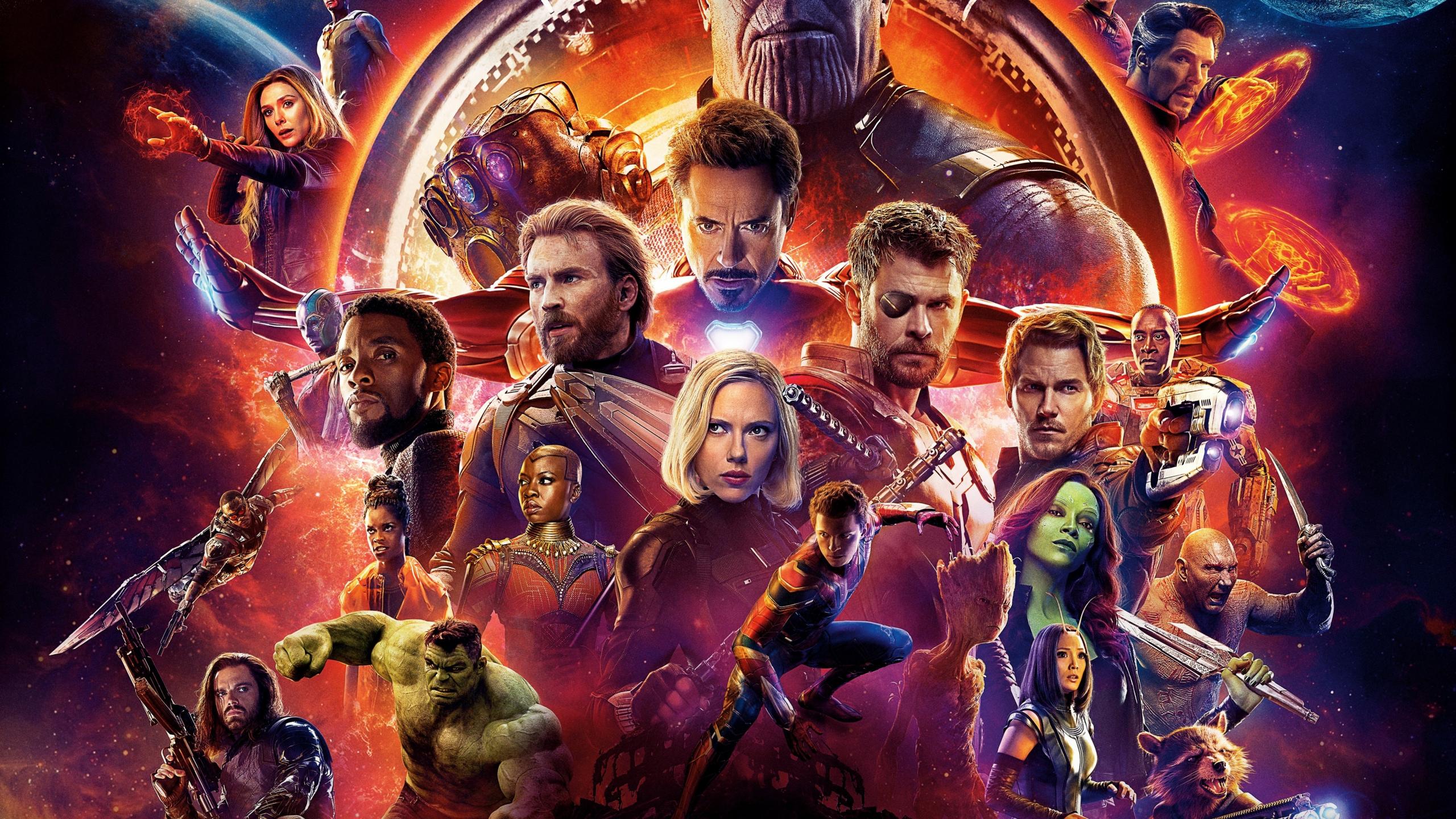Download 2560x1440 Wallpaper Avengers Infinity War Movie
