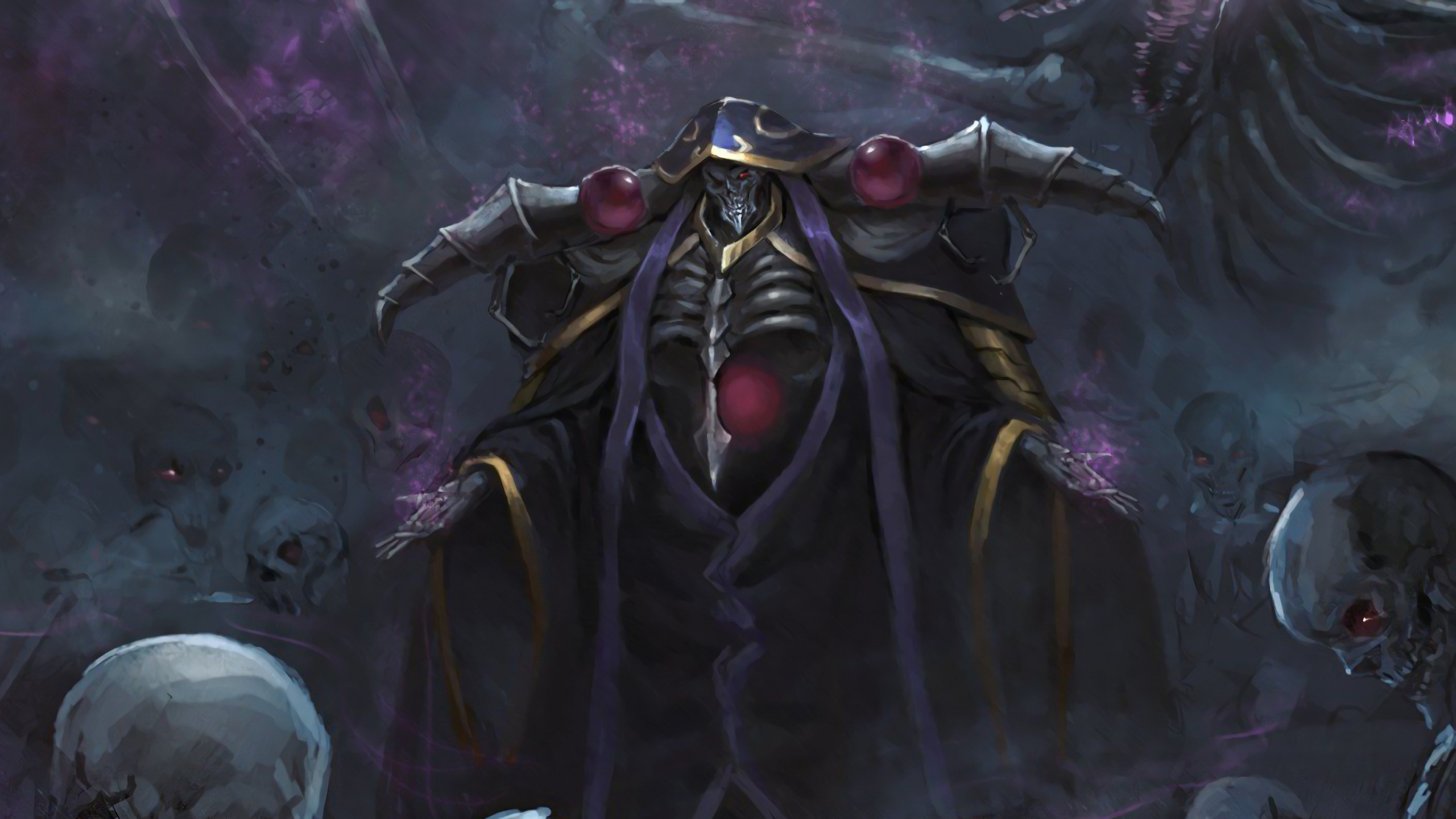 Downaload Overlord King And Warriors Art Wallpaper: Download 2560x1440 Wallpaper King, Overlord, Anime, Art