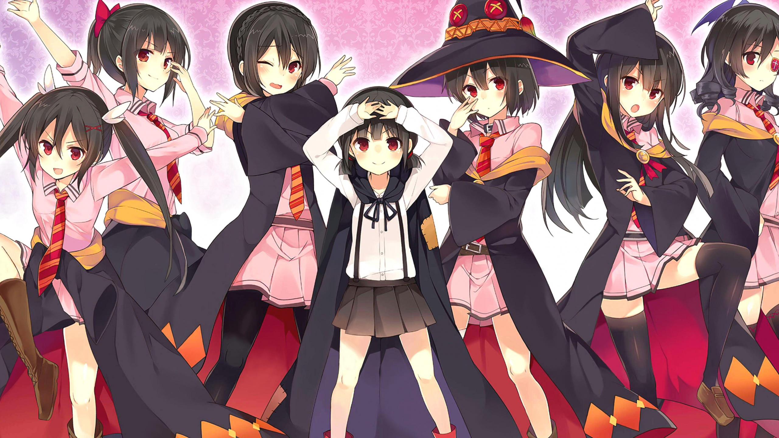 Download 2560x1440 Wallpaper Anime Girls Kono Subarashii Sekai Ni