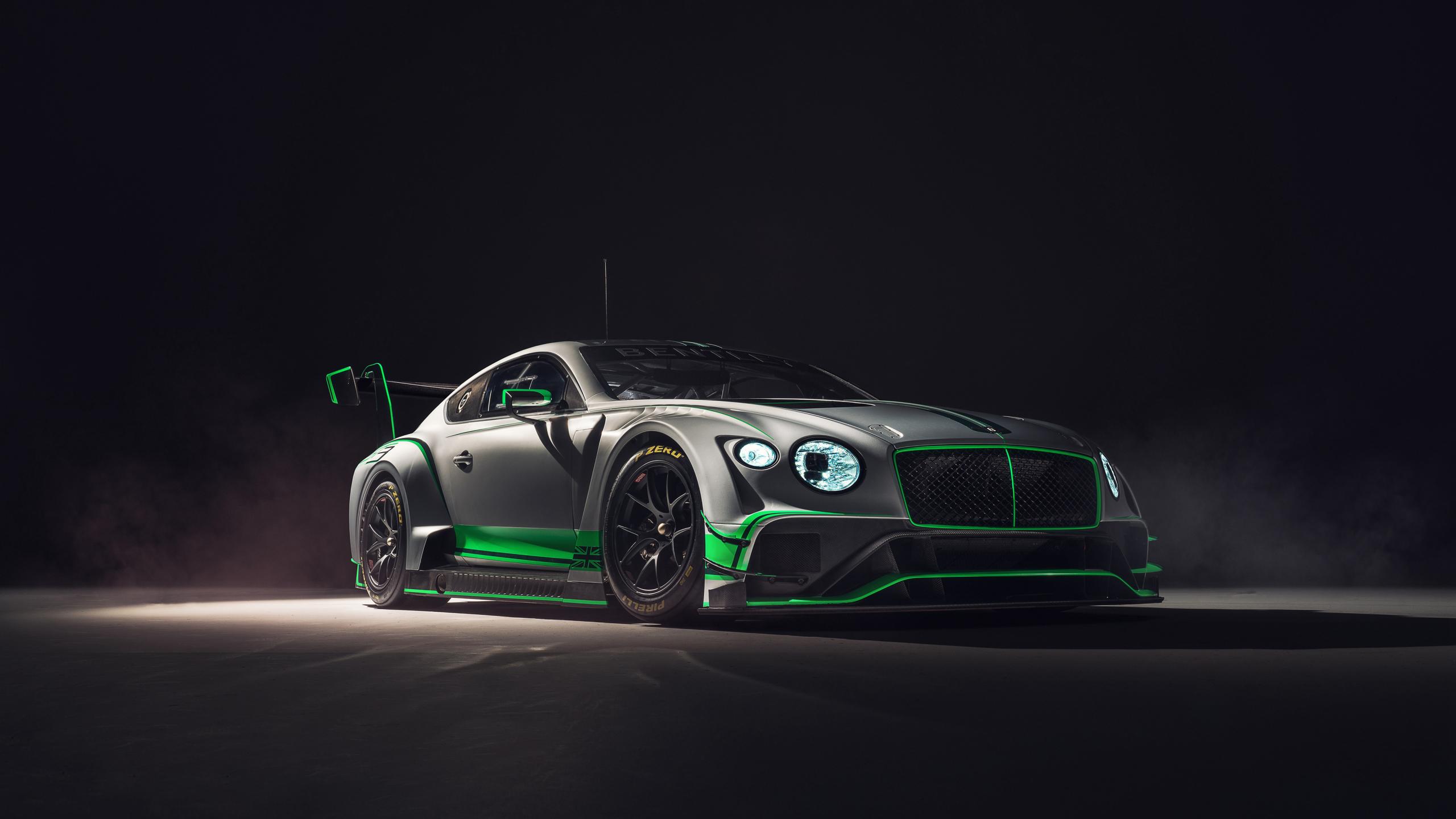 2018 Bentley Continental GT3, 2018 luxury car, 2560x1440 wallpaper