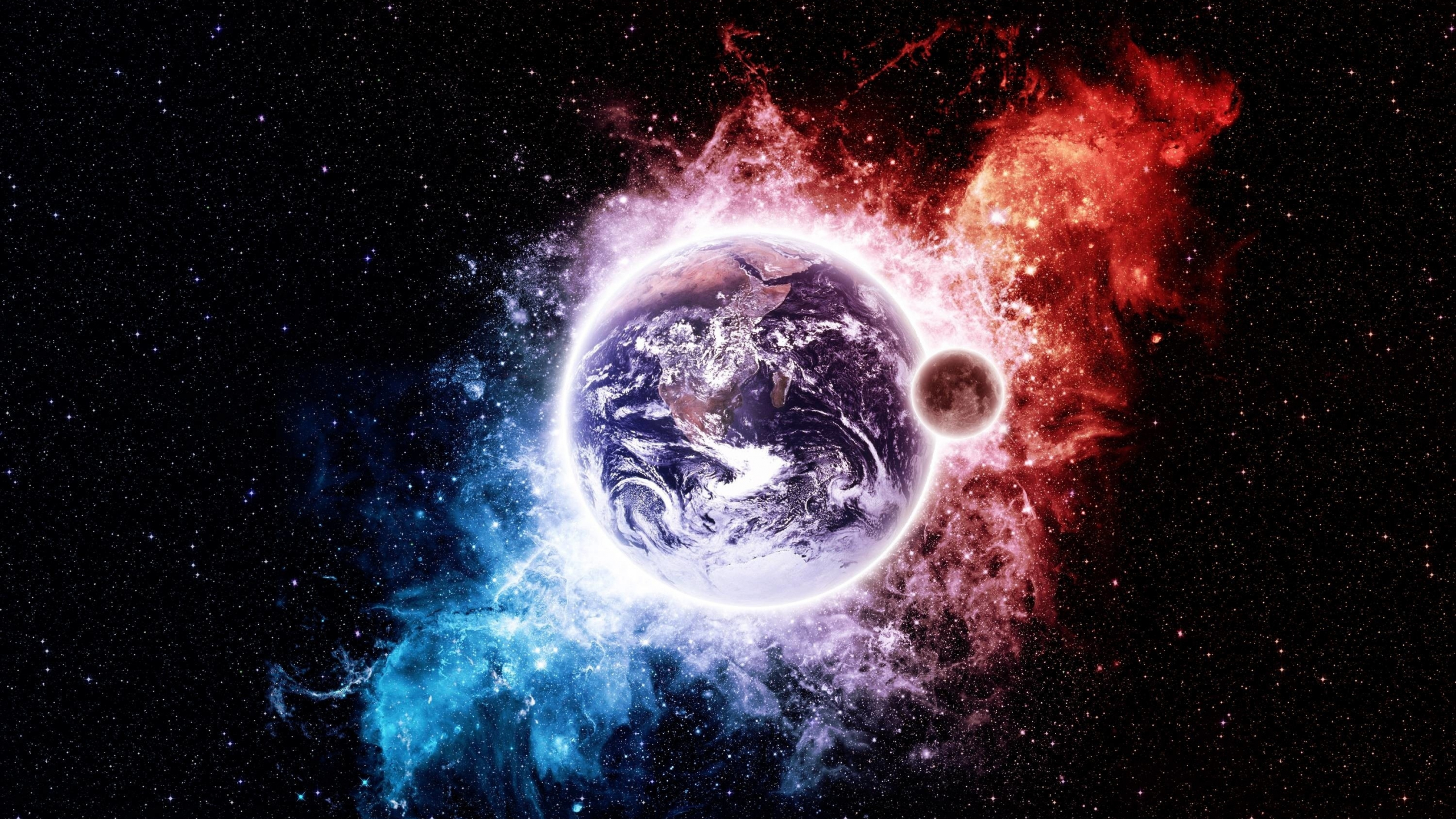 Download 2560x1440 Wallpaper Earth Space Artwork Dual Wide Widescreen 16 9 Widescreen 2560x1440 Hd Image Background 25612