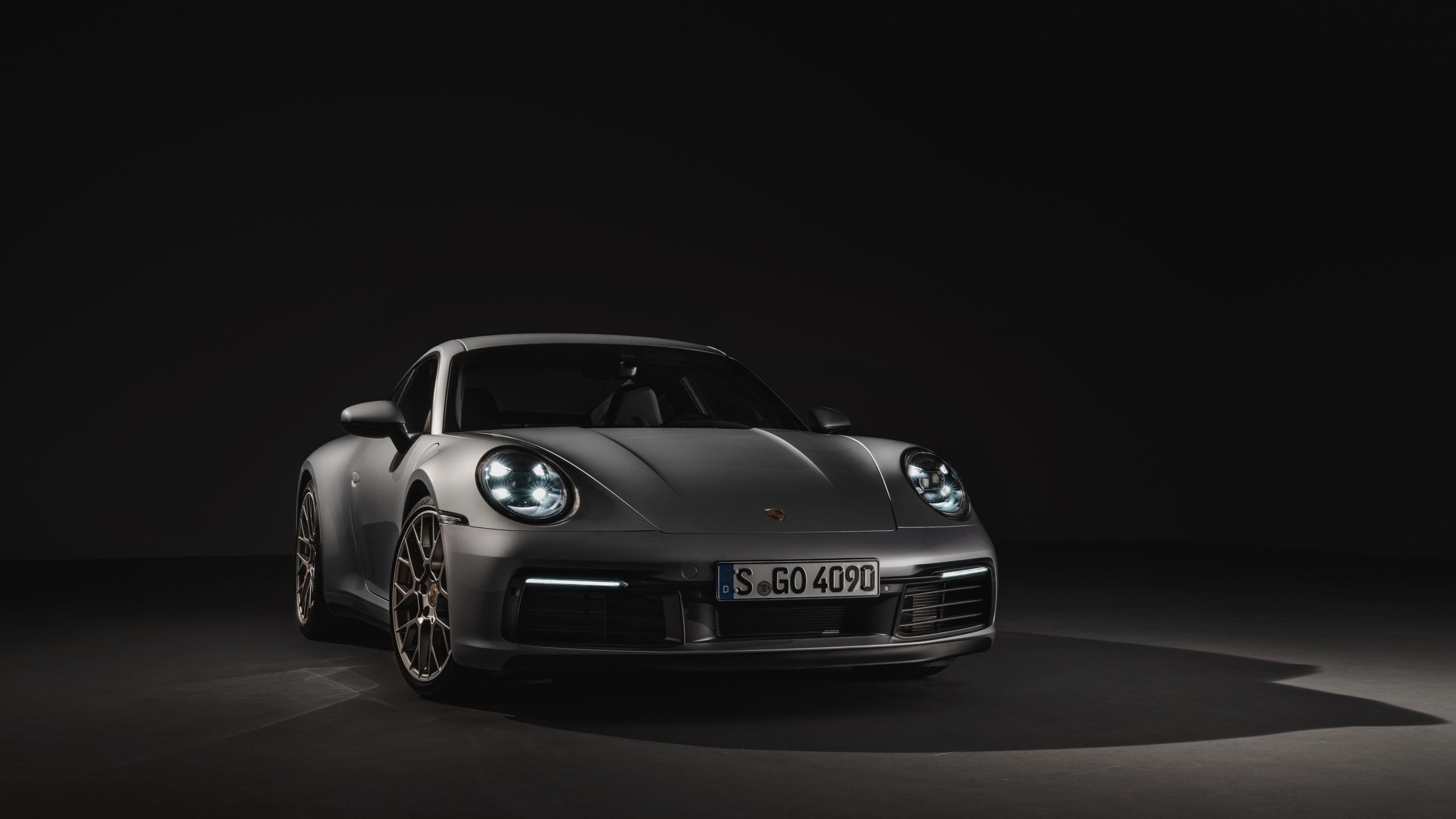 Download 2560x1440 Wallpaper Silver Sports Car Porsche 911 Carrera Dual Wide Widescreen 16 9 Widescreen 2560x1440 Hd Image Background 16512