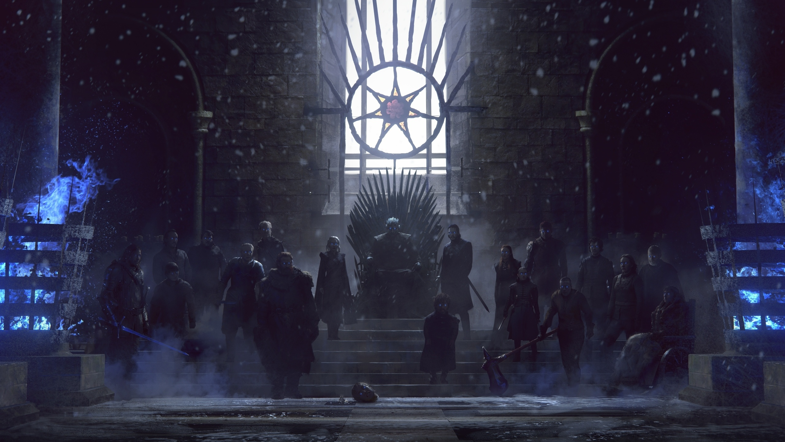 Download 2560x1440 Wallpaper Game Of Thrones Zombies Army Night King Art Dual Wide Widescreen 16 9 Widescreen 2560x1440 Hd Image Background 21451