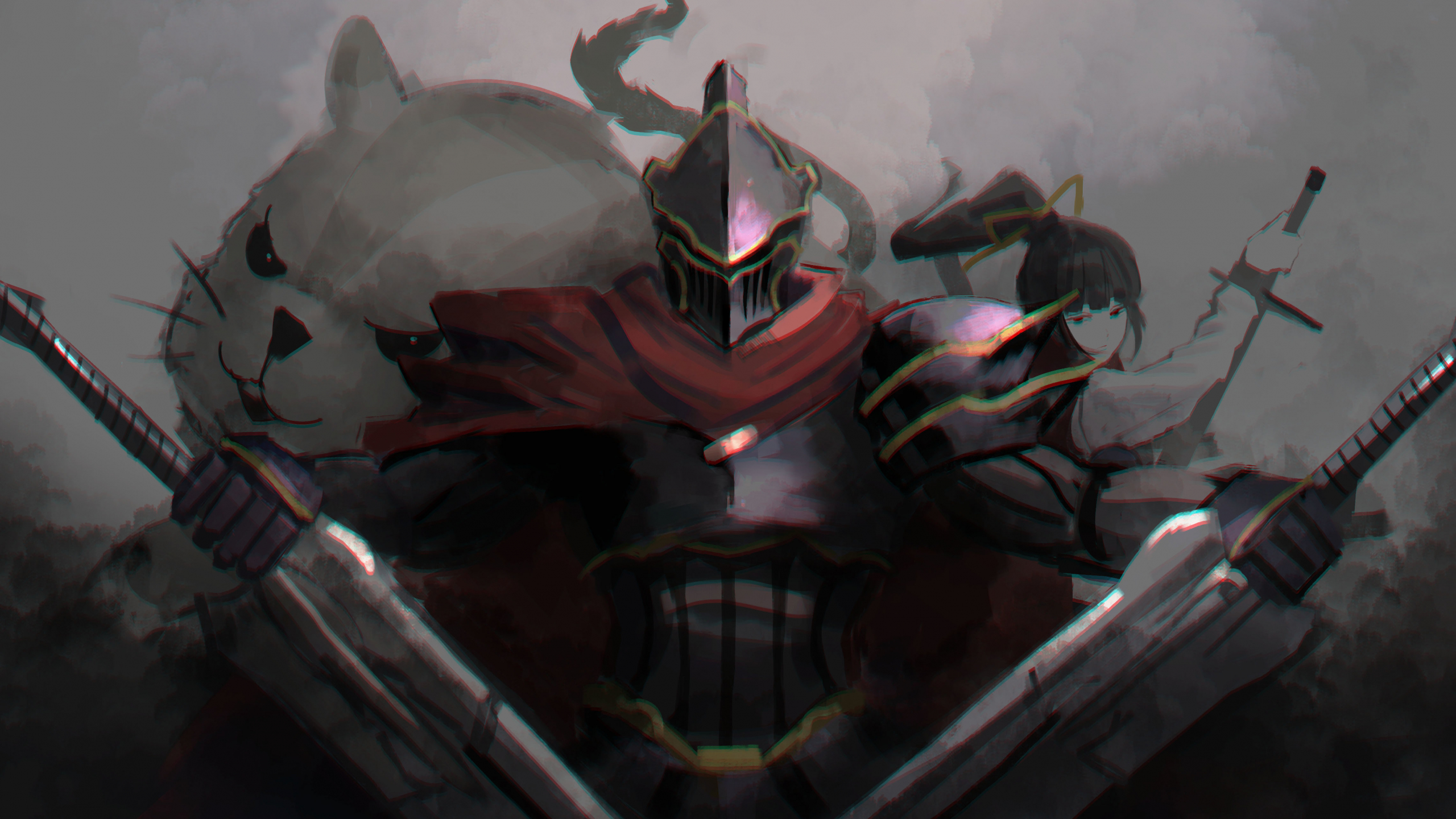 Downaload Overlord King And Warriors Art Wallpaper: Download 2560x1440 Wallpaper Overlord, Anime, Armour Suit