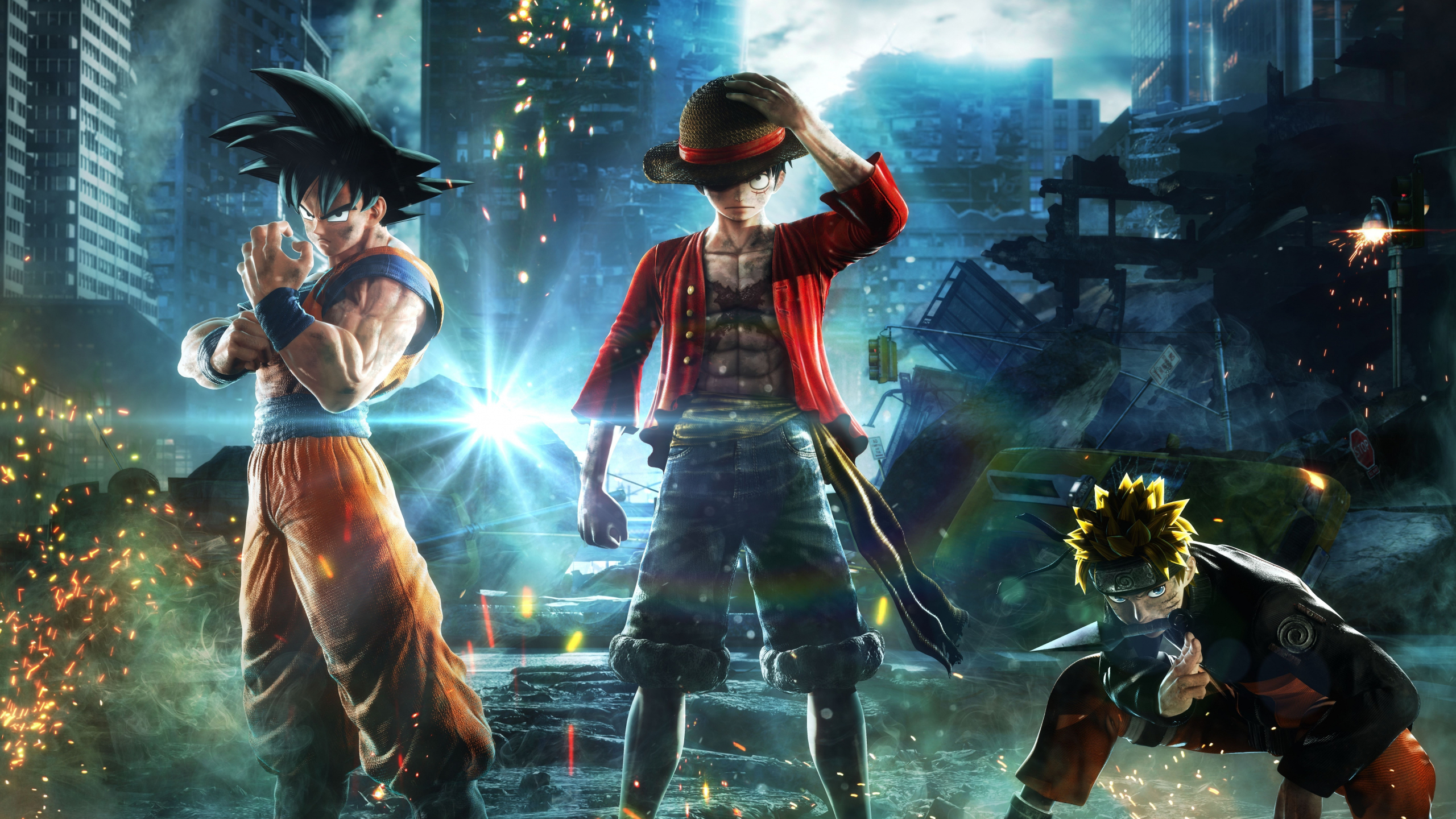 Download 2560x1440 Wallpaper Jump Force Anime Video Game