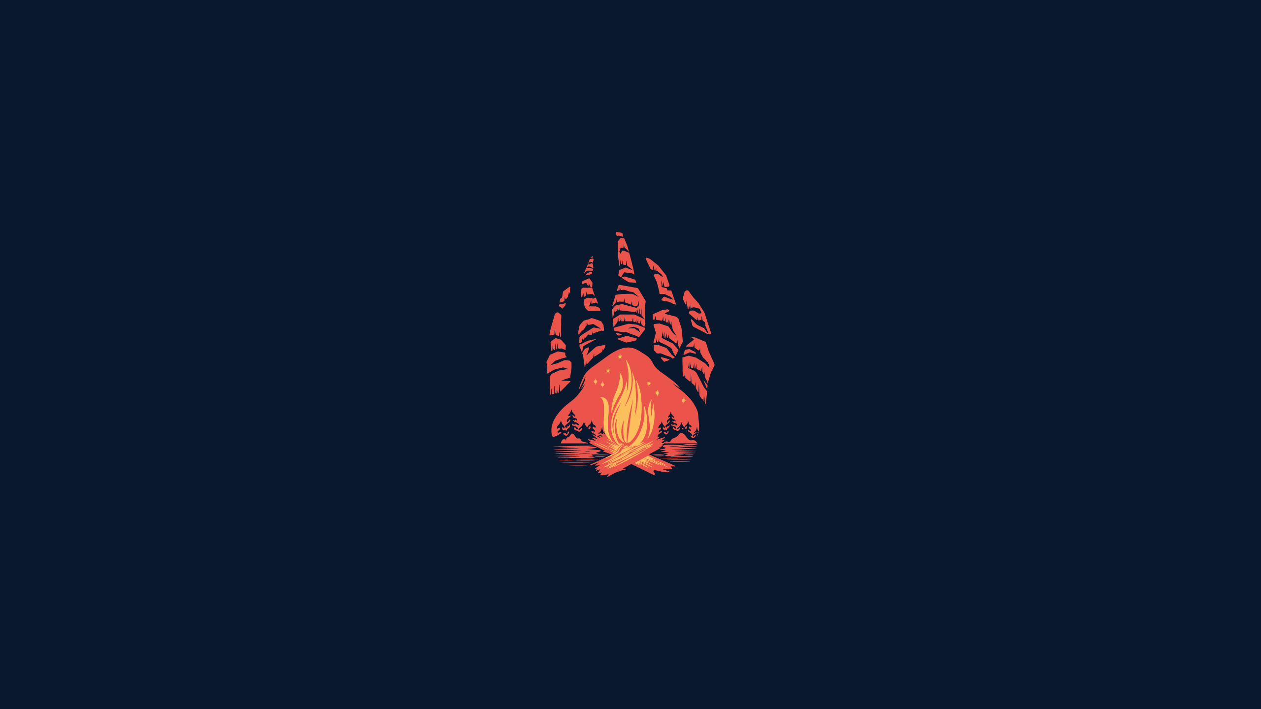 Download 2560x1440 Wallpaper Paws Campfire Minimal Abstract Dual Wide Widescreen 16 9 Widescreen 2560x1440 Hd Image Background 2853
