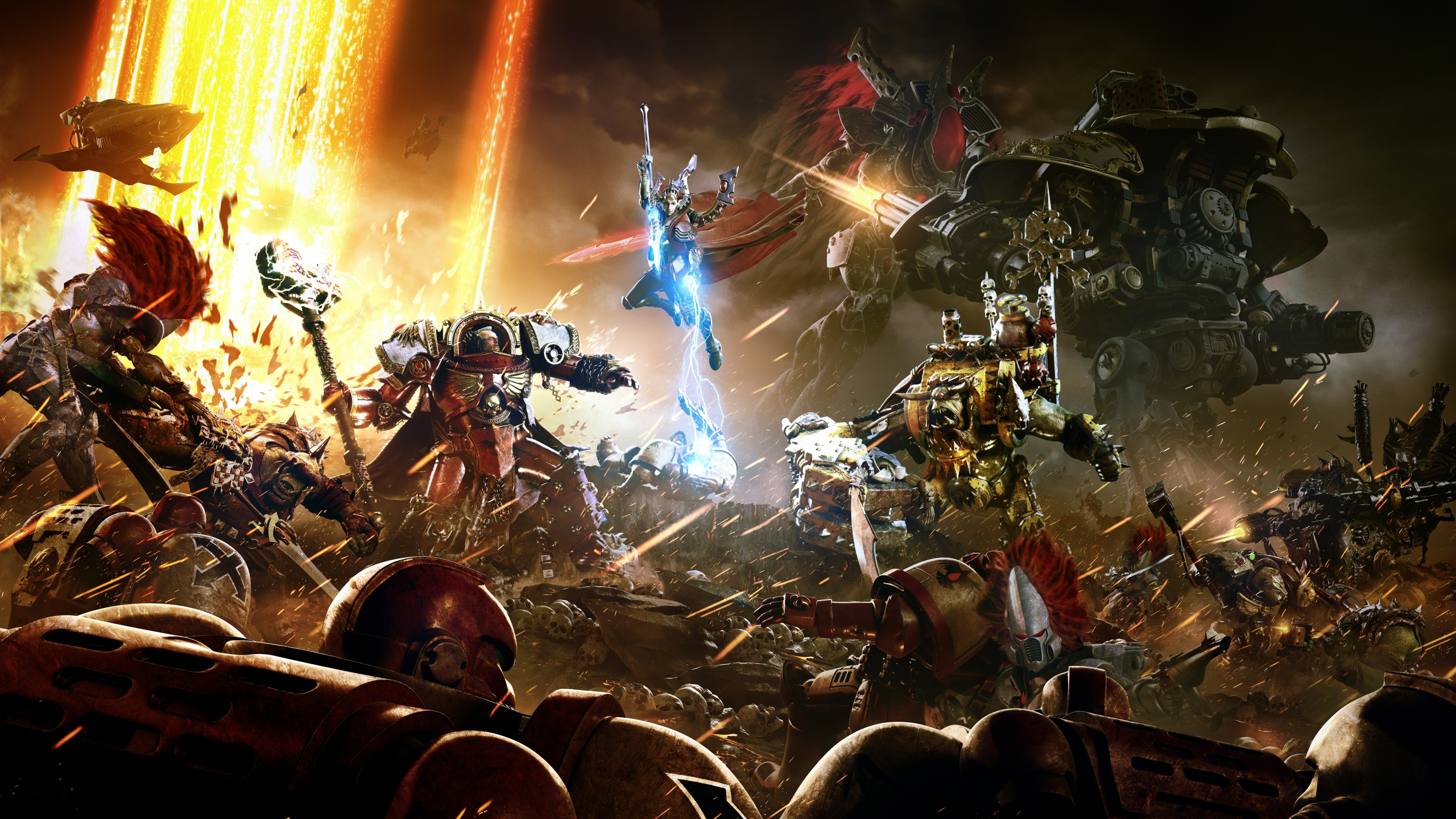 Download 2560x1440 Wallpaper Warhammer 40 000 Space Marine Video Game Art Dual Wide Widescreen 16 9 Widescreen 2560x1440 Hd Image Background 17000