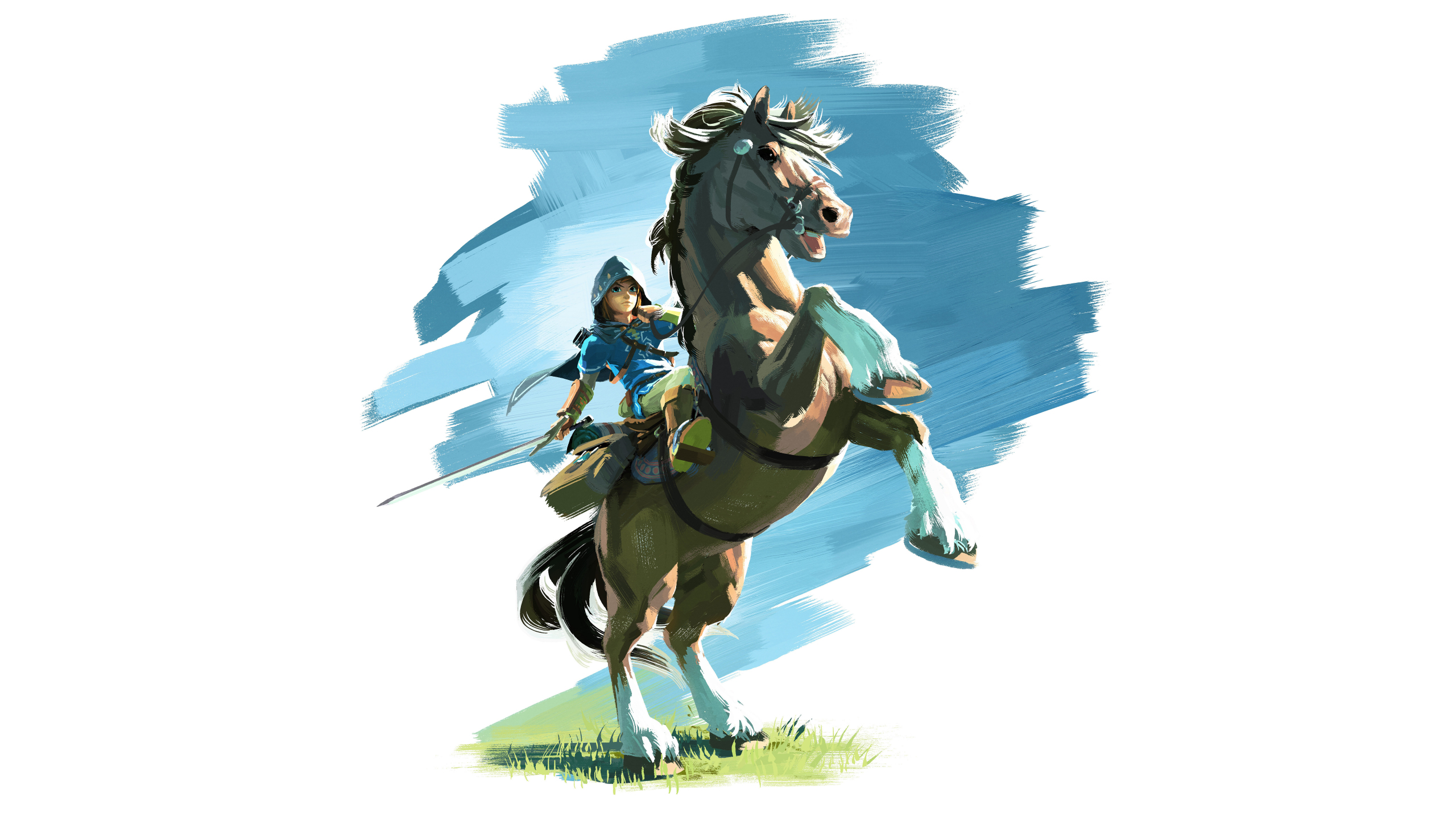 Download 2560x1440 Wallpaper The Legend Of Zelda Breath Of The Wild Video Game Horse Ride Dual Wide Widescreen 16 9 Widescreen 2560x1440 Hd Image Background 1824