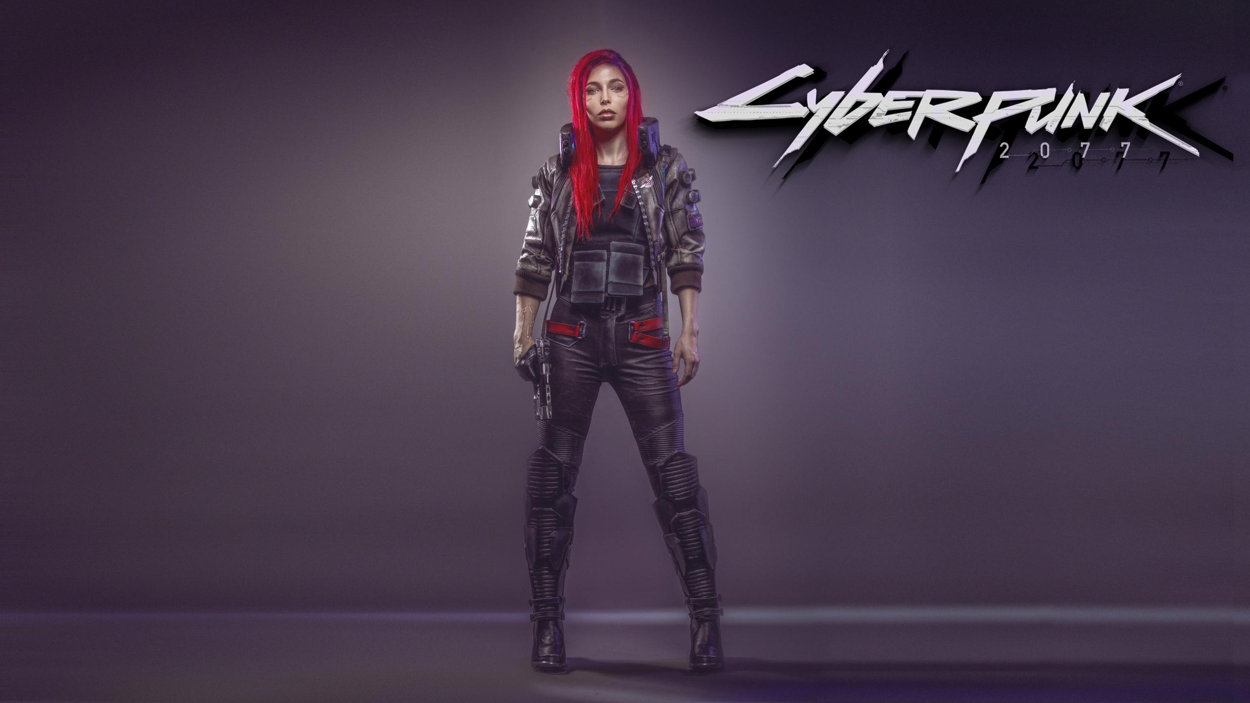 Download 2560x1440 Wallpaper Cyberpunk 2077 Woman Red Head Video Game Dual Wide Widescreen 16 9 Widescreen 2560x1440 Hd Image Background 9292