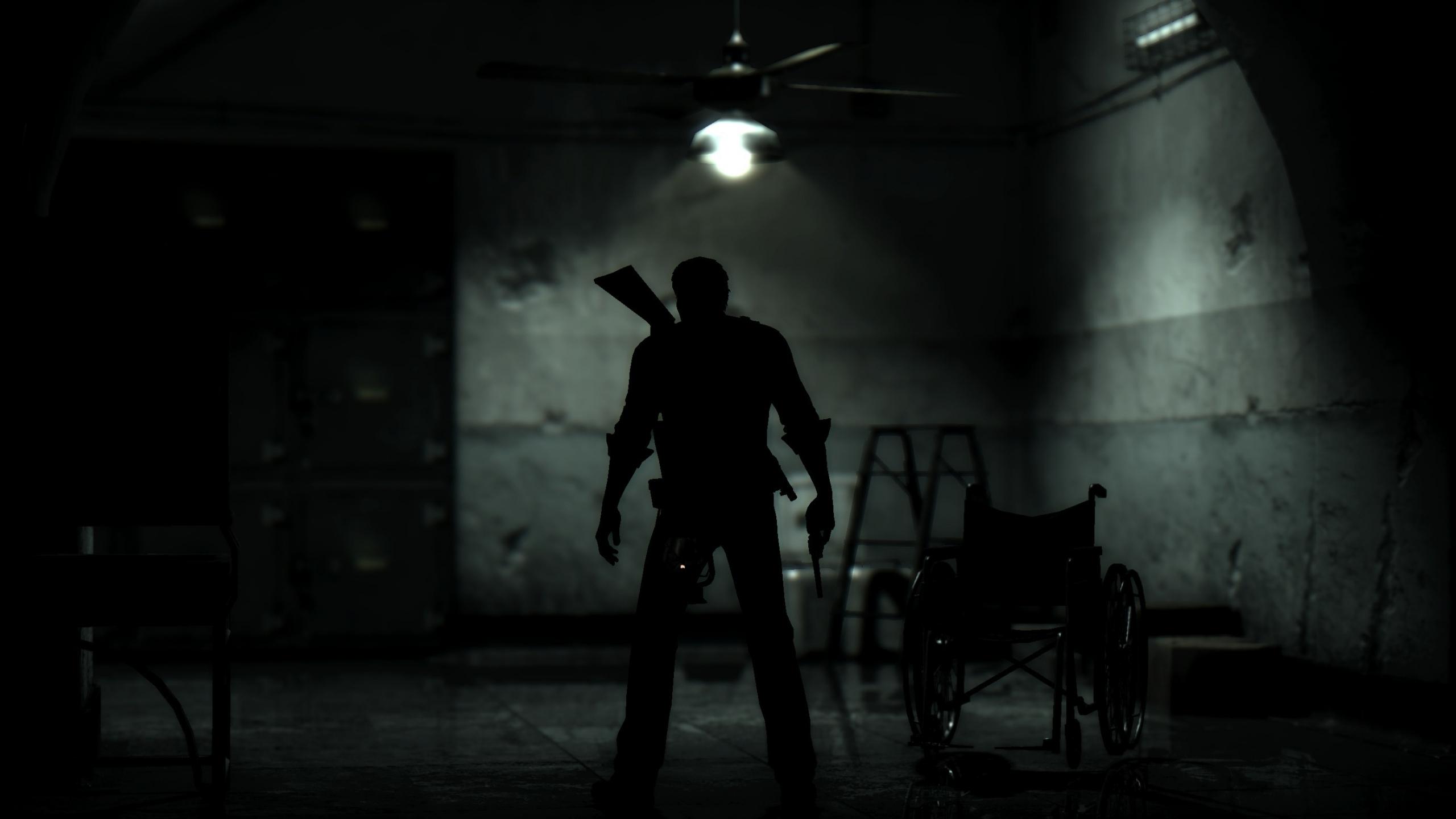 Download 2560x1440 Wallpaper Dark The Evil Within 2 Man With Gun