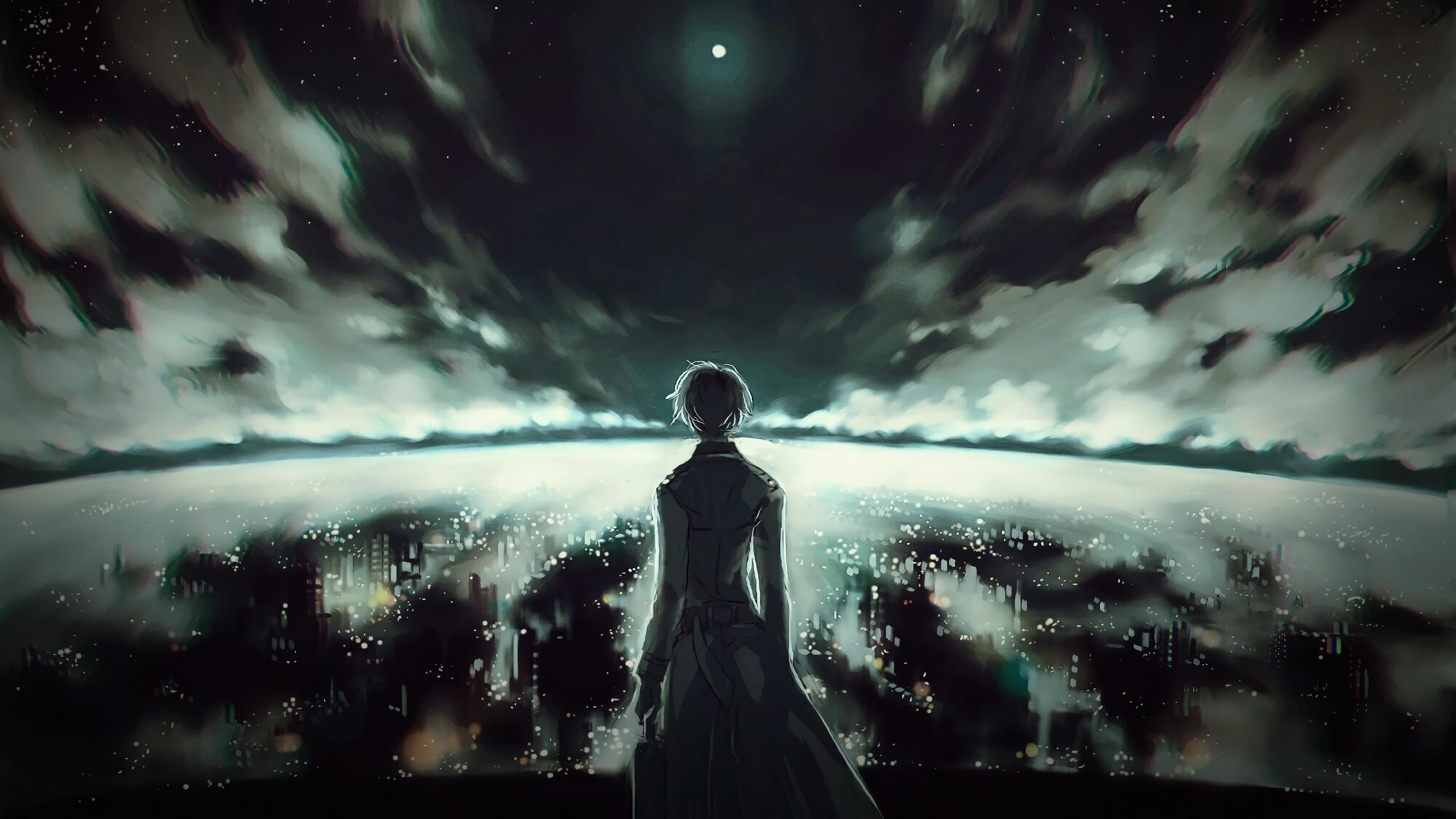 Download 2560x1440 wallpaper ken kaneki tokyo ghoul anime dark dual wide widescreen 16 9 - Ken hd wallpaper ...