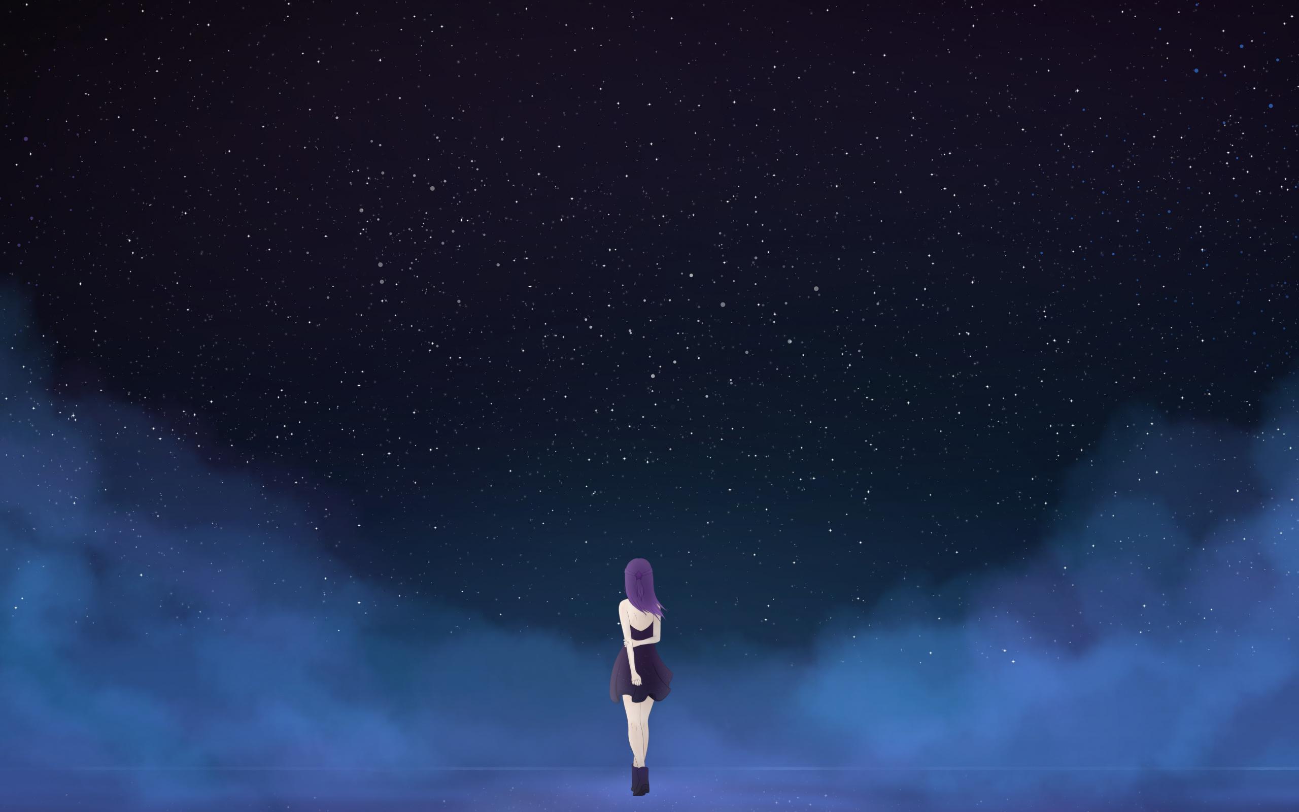 25 Anime Sky Wallpaper Night Sachi Wallpaper
