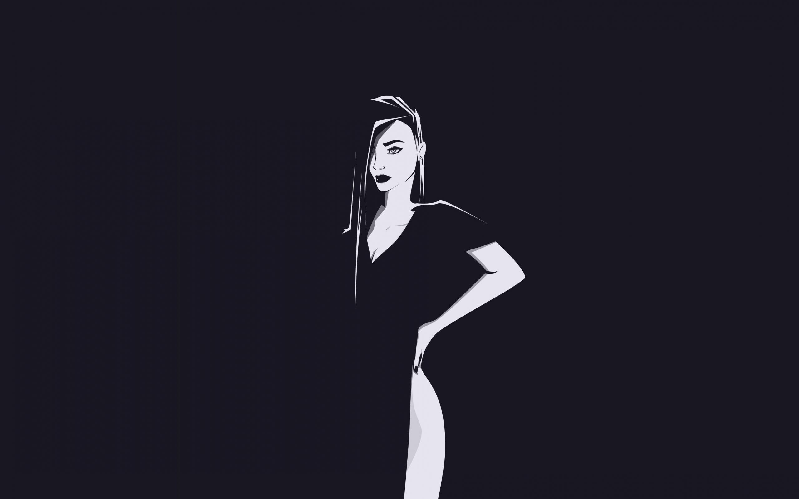 Minimal, urban woman, art, 2560x1600 wallpaper
