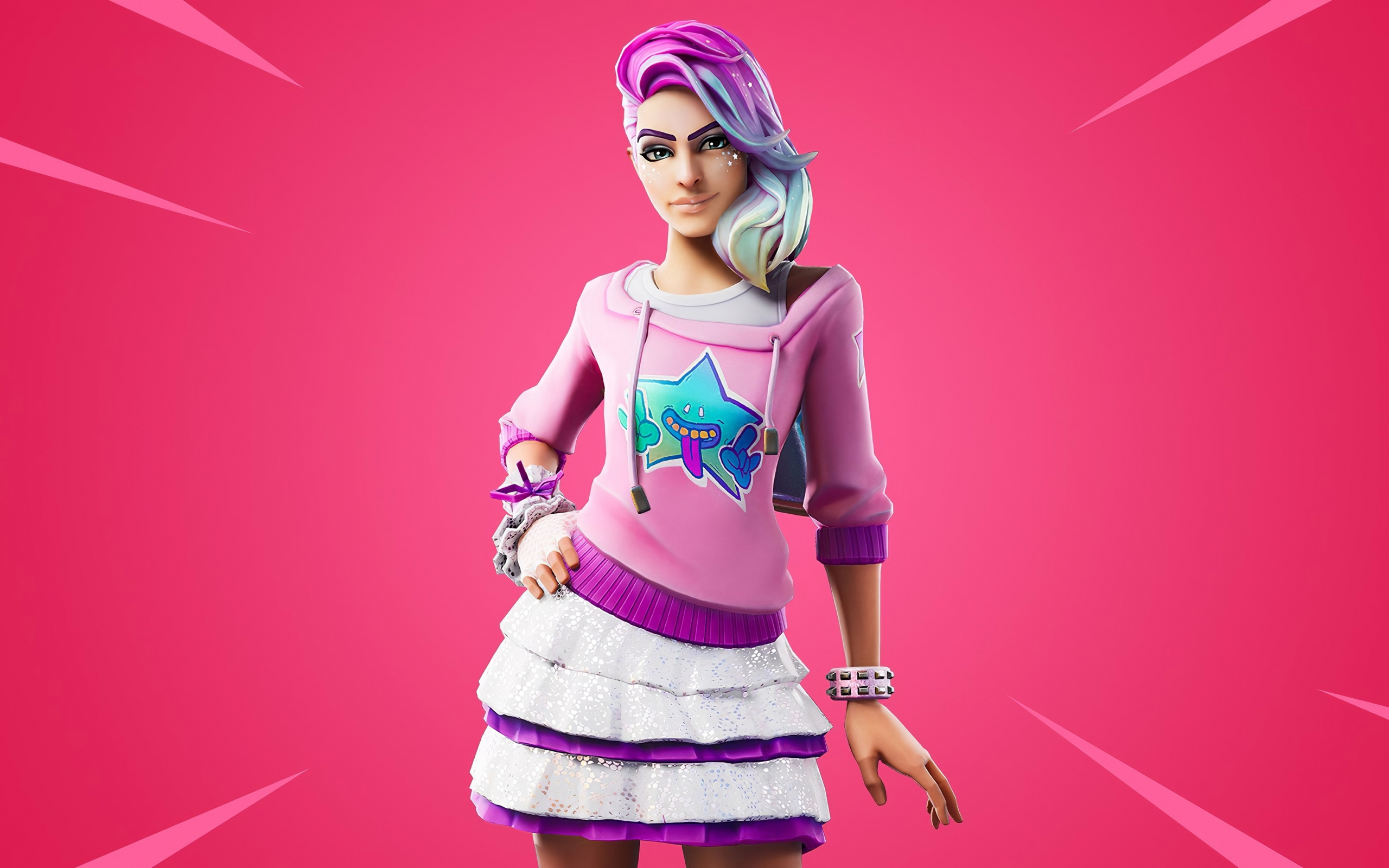 Download 2560x1600 Wallpaper Fortnite Chapter 2 Starlie Outfit Girl Video Game 2019 Dual Wide Widescreen 16 10 Widescreen 2560x1600 Hd Image Background 23099