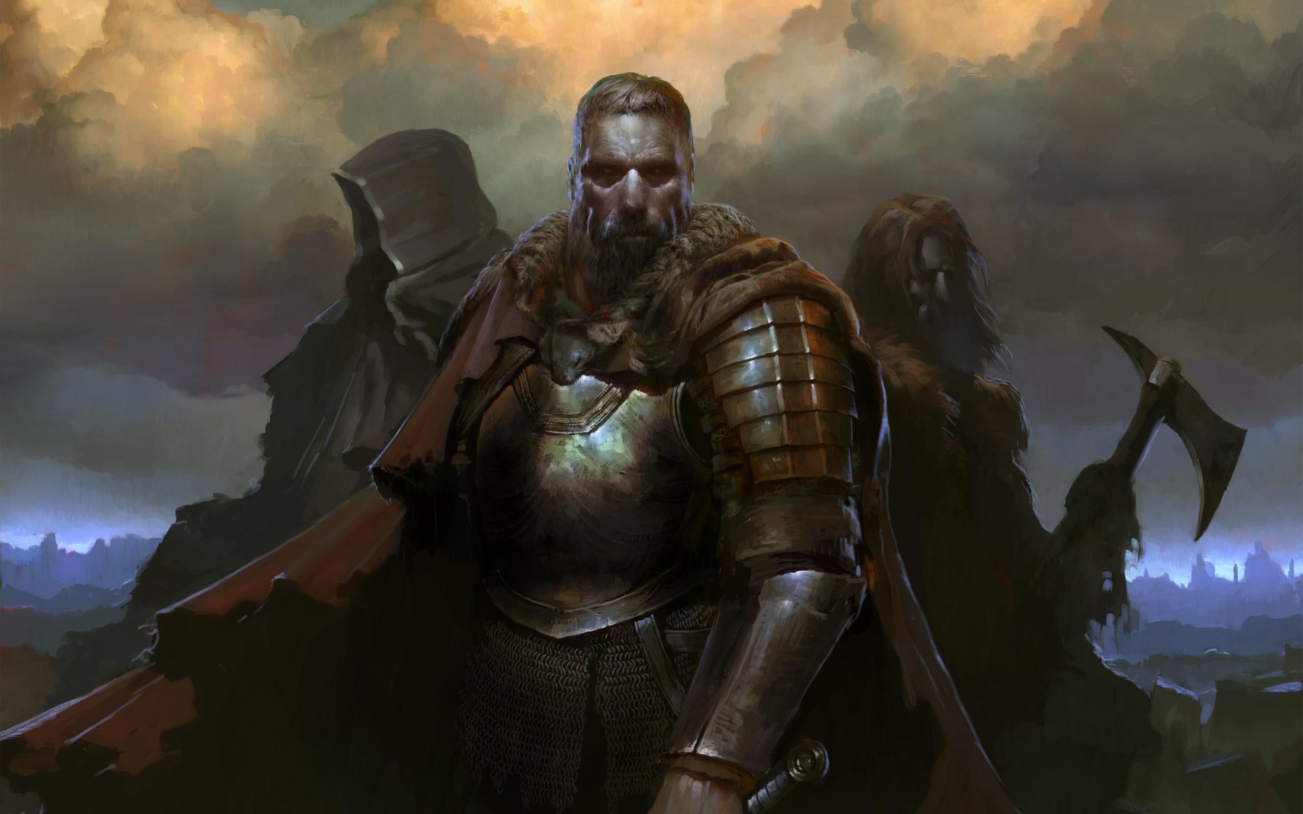 SpellForce 3, warriors, Video game, 2560x1600 wallpaper