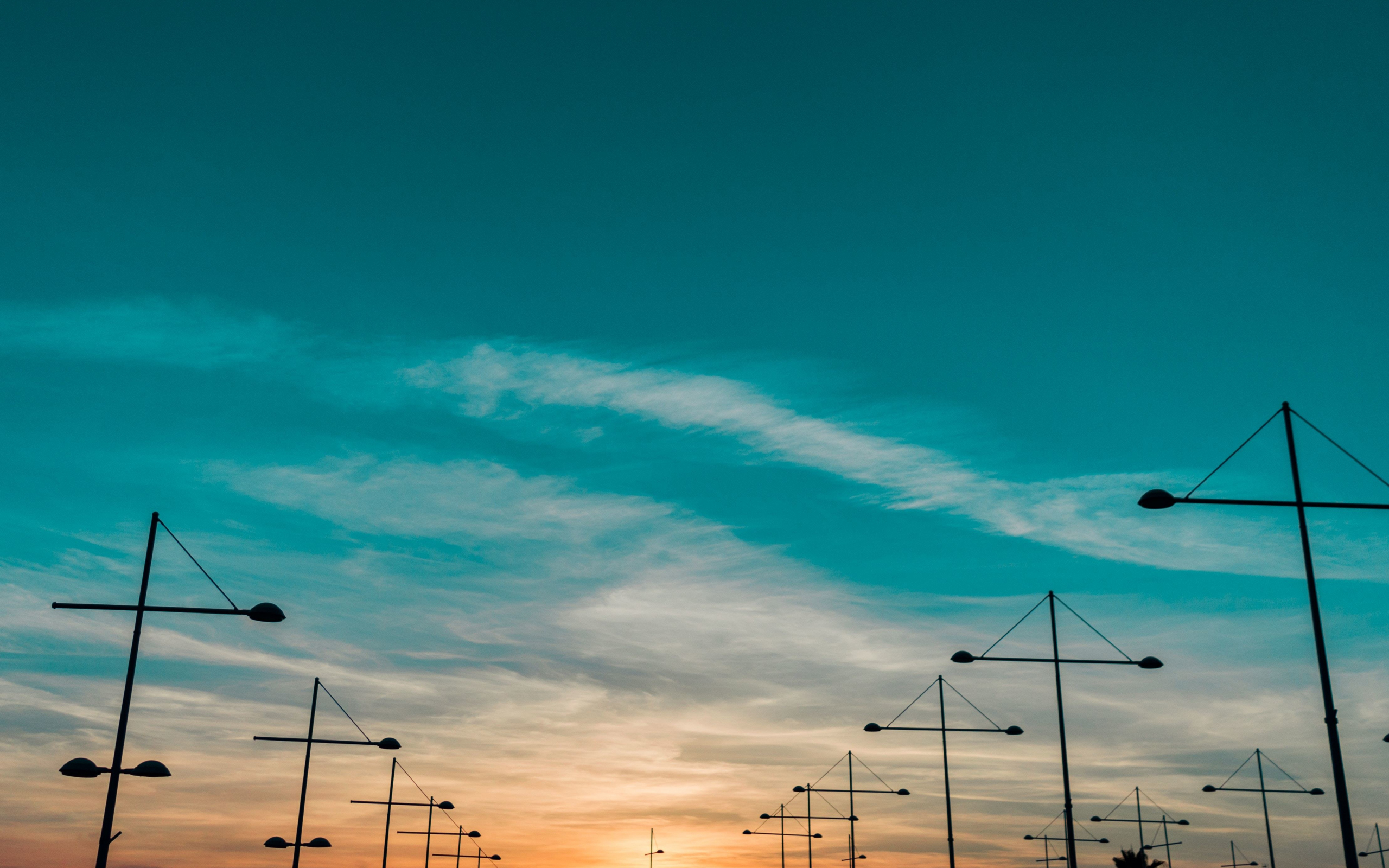 Sunset, landscape, skyline, 2560x1600 wallpaper