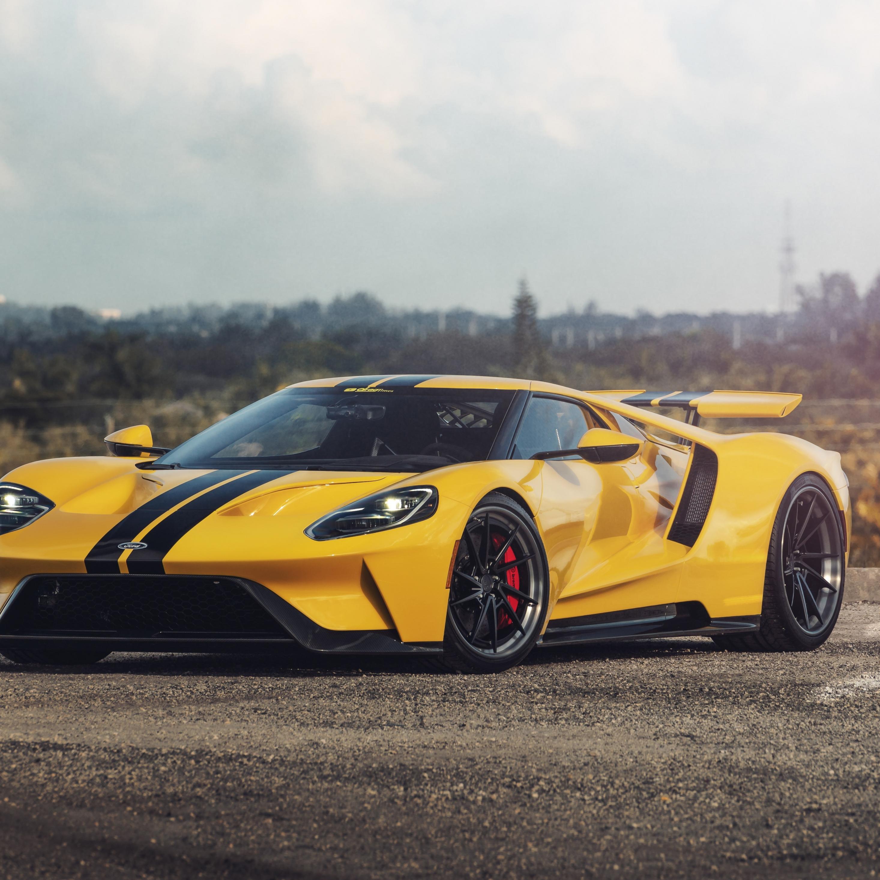 Download 2932x2932 Wallpaper Sports Car Ford Gt 2019