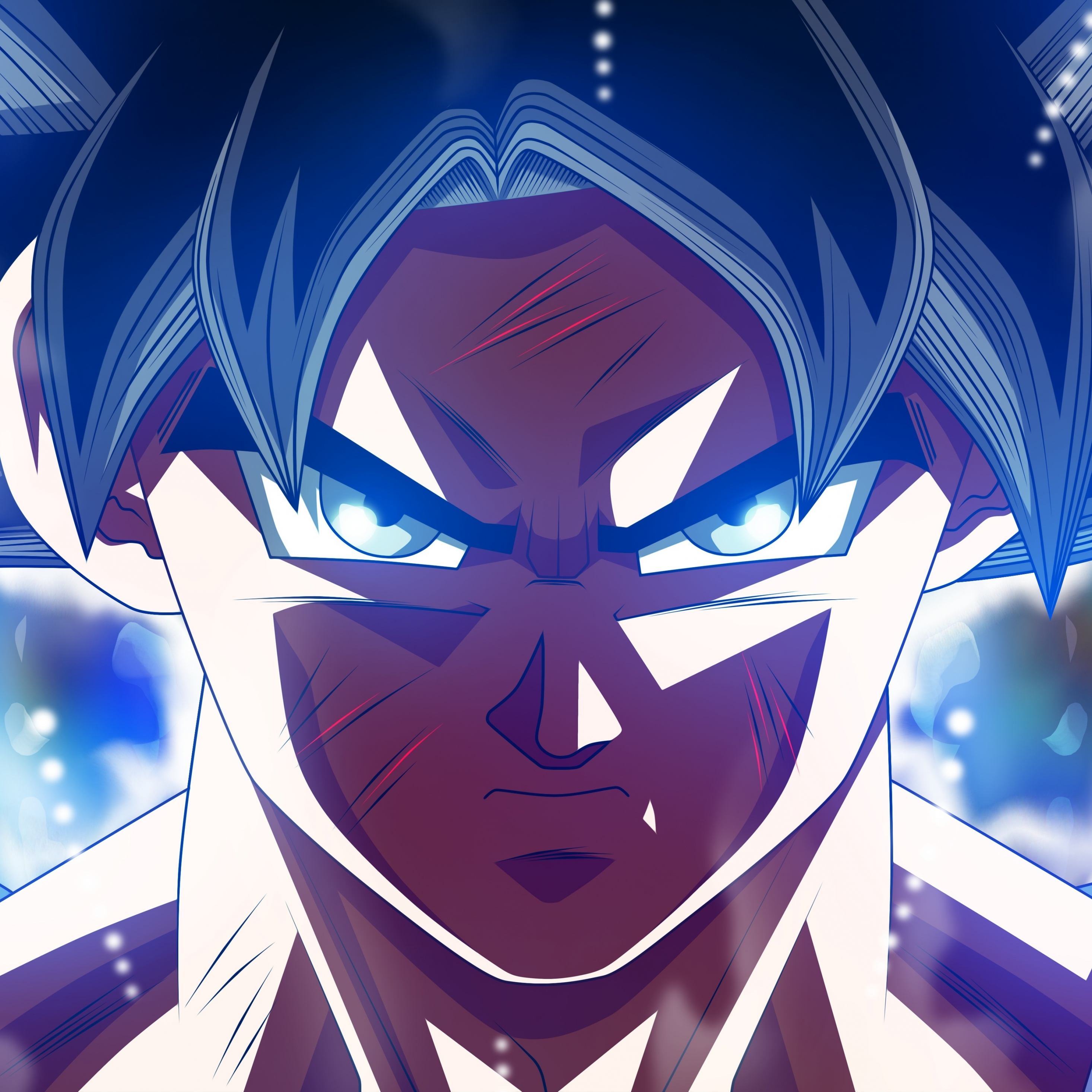 Download 2932x2932 Wallpaper Wounded Son Goku Ultra