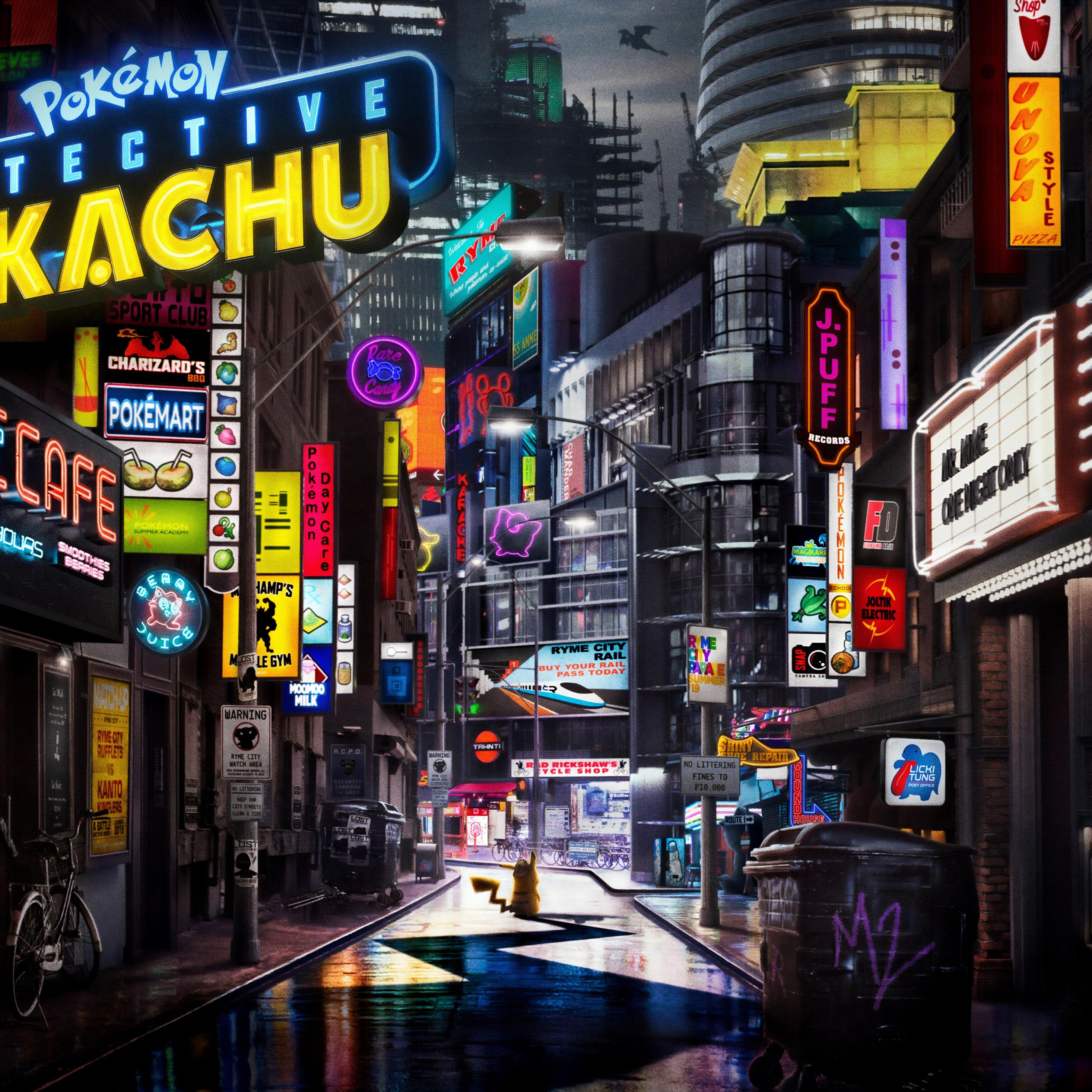 Download 2932x2932 Wallpaper Pokemon Detective Pikachu Animation