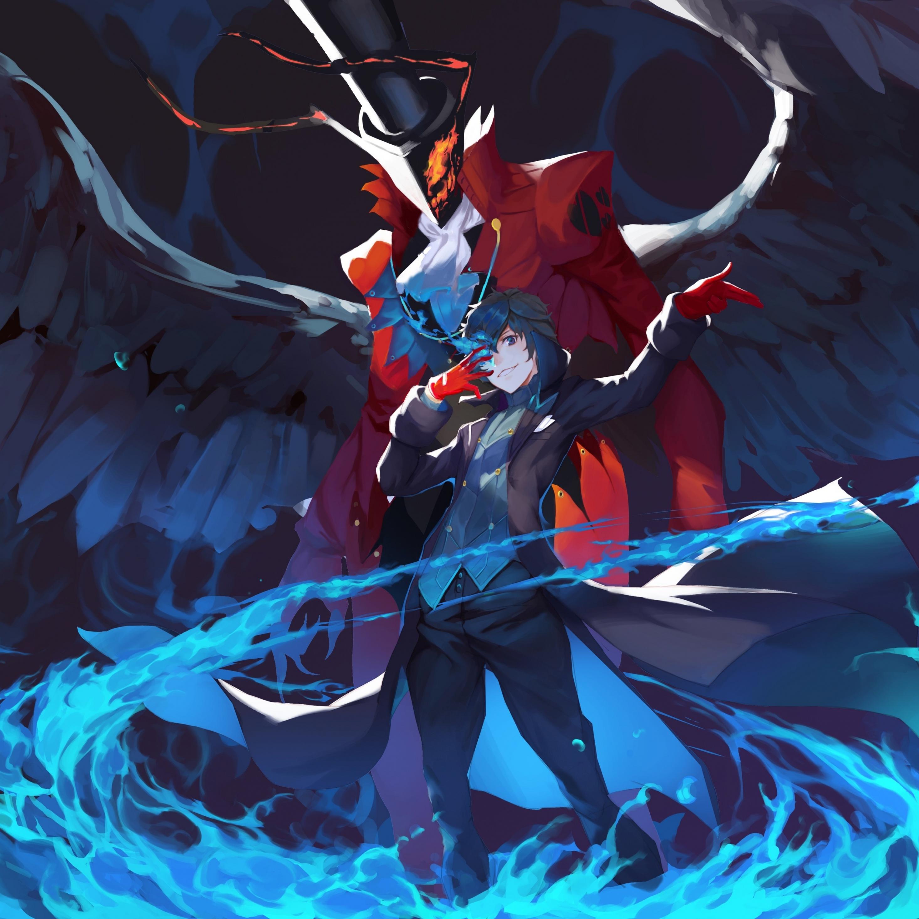 Download 2932x2932 Wallpaper Akira Kurusu Persona 5 Anime Video
