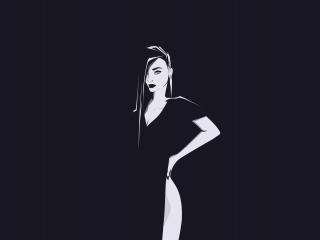 Minimal, urban woman, art, 320x240 wallpaper