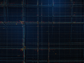 Particles, structure, lines, pattern, dark, 320x240 wallpaper