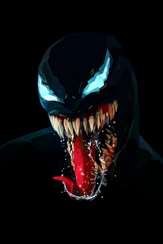 Download 240x320 Wallpaper Venom Artwork Minimal Dark Old Mobile