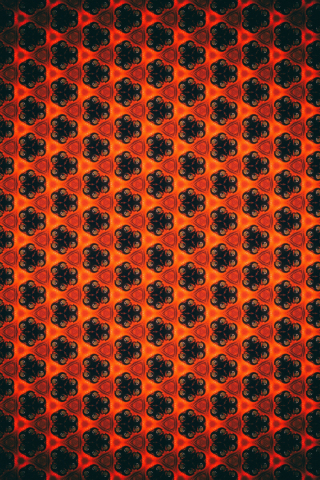 Patterns, flowers, shapes, abstract, 320x480 wallpaper