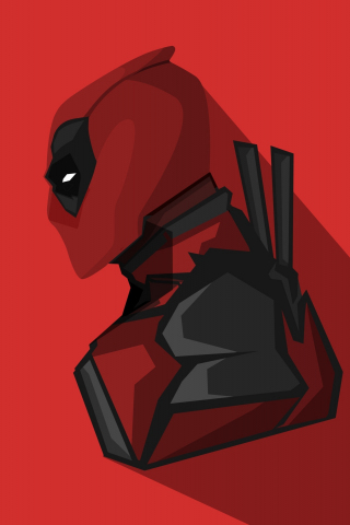 Download 240x320 Wallpaper Deadpool Marvel Comics Minimal