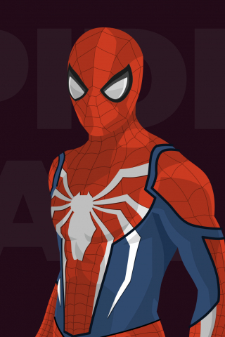 Spider Man Minimal Artwork 240x320 Wallpaper