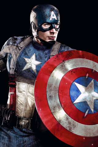 Download 240x320 Wallpaper Captain America Superhero Marvel Studio
