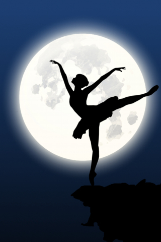 Download 240x320 Wallpaper Ballerina Silhouette Moon Dance Old Mobile Cell Phone Smartphone 240x320 Hd Image Background 4402