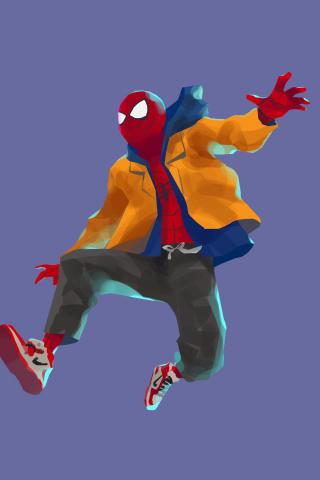 Download 240x320 Wallpaper Spider Man Into The Spider Verse Spider