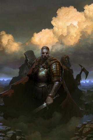 SpellForce 3, warriors, Video game, 240x320 wallpaper