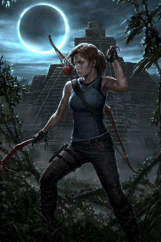 Download 240x320 Wallpaper Shadow Of The Tomb Raider Archer