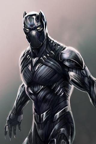 Download 240x320 Wallpaper Black Panther Superhero Fan Made