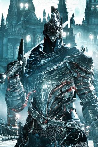 Download 240x320 Wallpaper Knight Artorias Warrior Dark