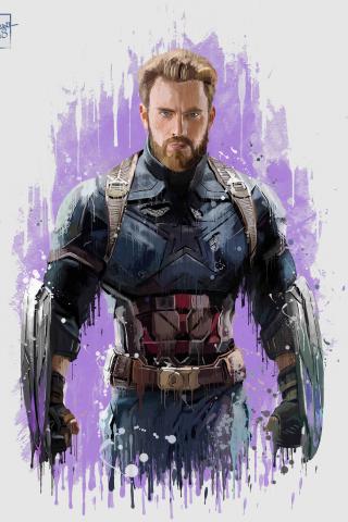 Download 240x320 Wallpaper Captain America Avengers Infinity War