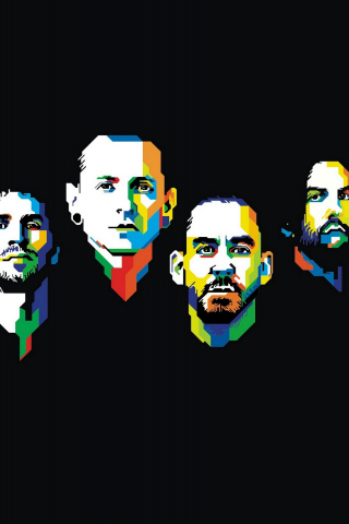 Download 320x480 Wallpaper Linkin Park American Rock Band
