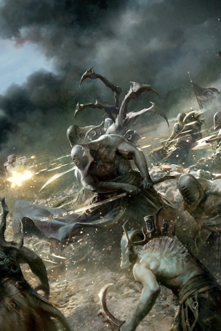 Download 240x320 Wallpaper Warhammer 40k Battle Creepy Creatures Video Game Old Mobile Cell Phone Smartphone 240x320 Hd Image Background 4963