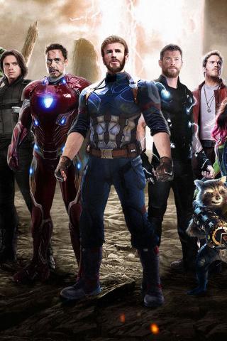 Download 240x320 Wallpaper Team Of Superheroes Movie 2018