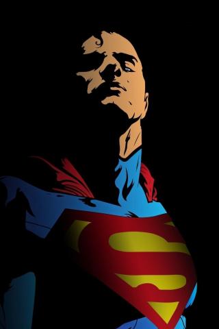 Superman, minimal, art, 320x480 wallpaper