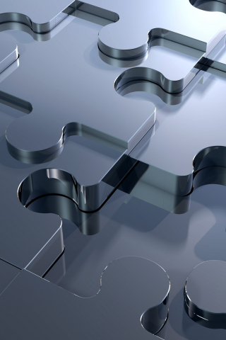 Download 240x320 Wallpaper 3d Silver Missing Piece Puzzle