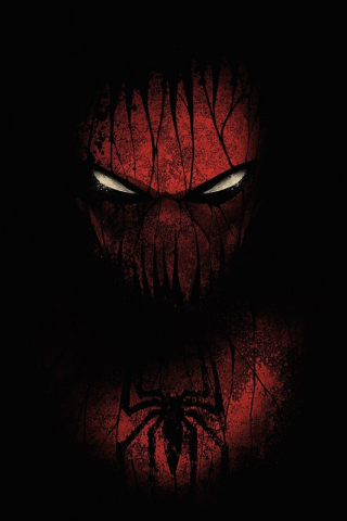 Download 240x320 Wallpaper Red And Black Spiderman Minimal Old