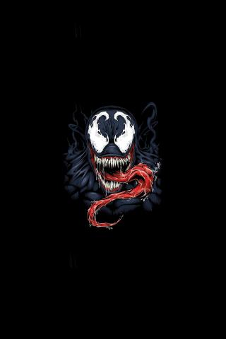 Download 240x320 Wallpaper Minimal Venom Supervillain Artwork