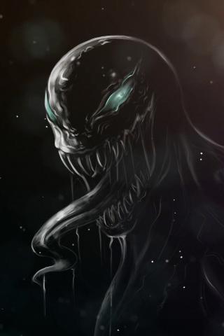 Download 240x320 Wallpaper Dark Minimal Villain Venom Old Mobile