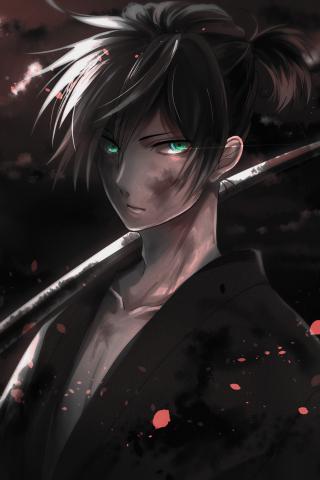 Download 240x320 Wallpaper Warrior Yato Noragami Dark